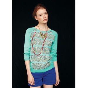 Moth Mint Print pullover
